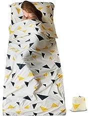 SueH Design Saco de Dormir Ligero y Largo de 230 x 90 cm Forro de Aloe