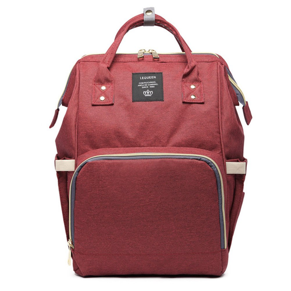 Maternity Nappy Bags Large Capacity Baby Travel Backpack Desiger Nursing Bag Baby Care For Dad and Mom MU894286 wine red by dyeve