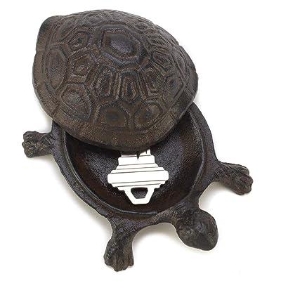 Gifts & Decor Garden Decoration Turtle Cast Iron Key Hider Stone: Home & Kitchen