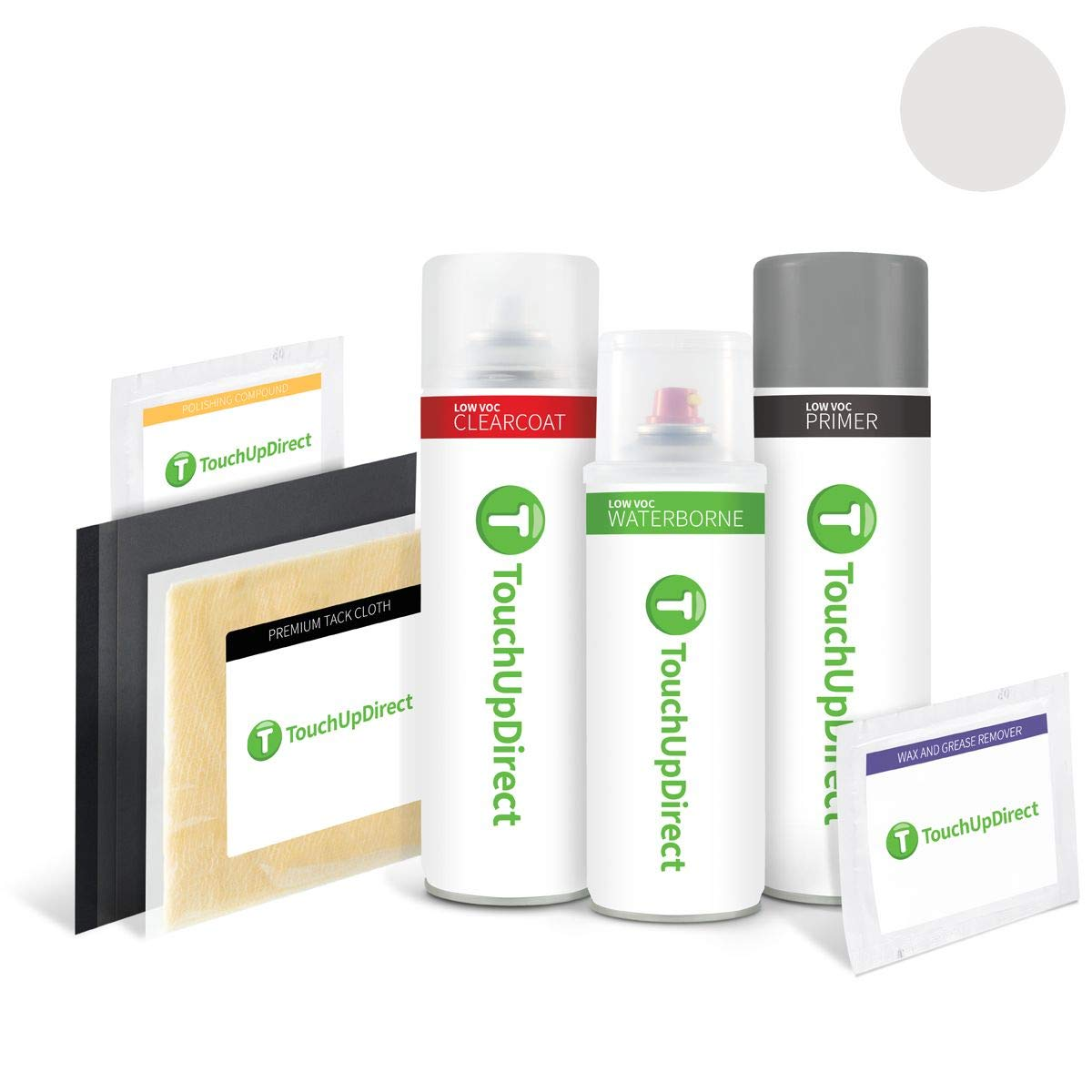 TouchUpDirect Exact Match Automotive Touch Up Paint Matches Lexus Atomic Silver Metallic (1J7) Aerosol - Platinum Package