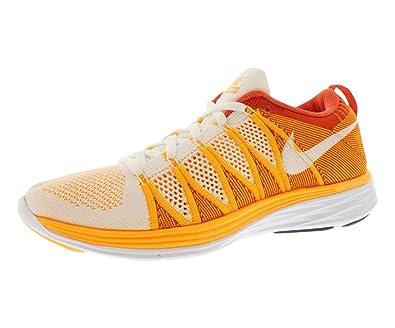 low priced df5da 36474 greece womens nike flyknit lunar2 running shoes. size 11. white white laser  orange 28be1