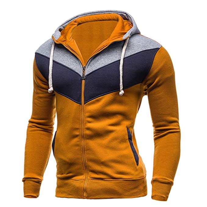57287abb12b6 Btruely Kapuzenpullover Herren Spleißen Hoodies Sweatshirt Herbst Winter  Freizeit Zipper Outwear Mit Kapuze Jacke Männer Pullover