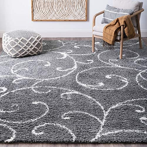 Tayse Benji Gray 8×10 Shag Rectangle Area Rug
