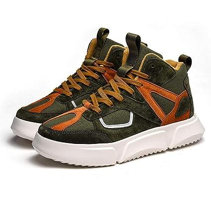 ea87b248d33a Amazon.com: QIDI Casual Shoes Men Youth Flat Non-Slip Lace Winter ...