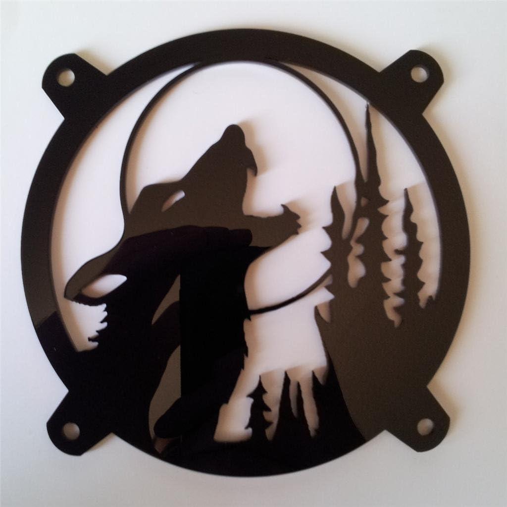 Custom Acrylic Howling Wolf Computer Fan Grill 92mm