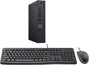 Dell Optiplex 3060 Micro PC Desktop Bundle with Intel Core i5-8500T 2.1GHz 6-Core (Hexa Core), 16GB DDR4 RAM, 256GB SSD, Windows 10 Pro, Keyboard, Mouse