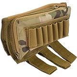 FARMSOLDIER Buttstock Shell Holder,Tactical Shell Holder for Shotgun Rifle Cheek Rest Pouch,2-Way Double Zipper Utility…