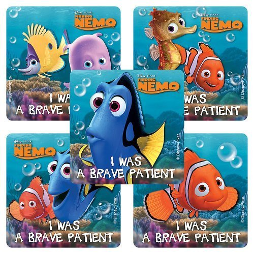 Disney Finding Nemo Medical Stickers - 100 Per Pack