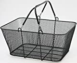 Supermarket Metal Wire Grocery Shopping Basket 16 x 12 x 7 Black Lot of 6 New