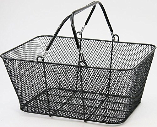Supermarket Metal Wire Grocery Shopping Basket 16 x 12 x 7 Black Lot of 6 New by Bentley's Display