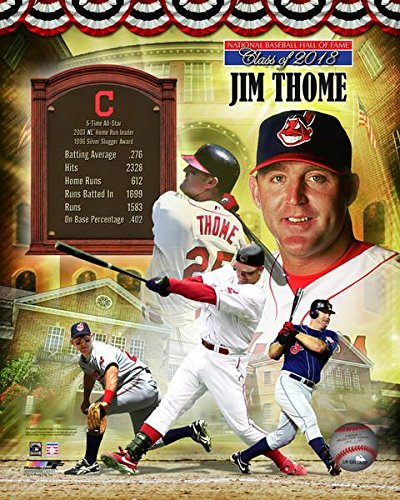 16x20 Hall Of Fame Photo - Jim Thome Cleveland Indians MLB Hall of Fame Photo (Size: 16