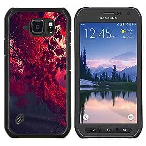 Red Leaf Forrest- Metal de aluminio y de plástico duro Caja del teléfono - Negro - Samsung Galaxy S6 active / SM-G890 (NOT S6)