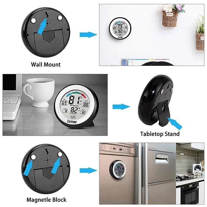 Amazon.com: dxrise higrómetro digital de medición de humedad ...