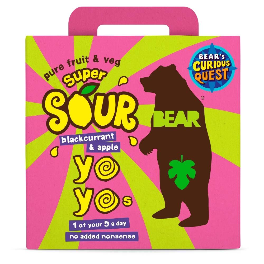 Bear Yoyo Super Sours Blackcurrant & Apple 5 x 20g