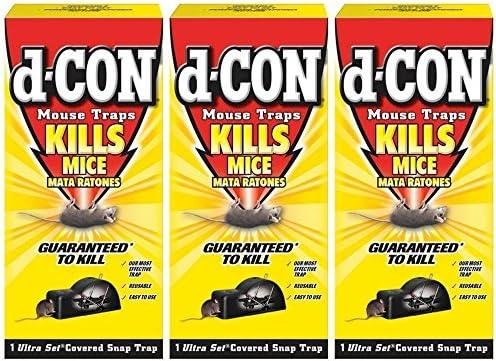d-Con® Mouse Glue Trap, Plastic, 4 Traps/Box, 12 Boxes/Carton (REC78642)