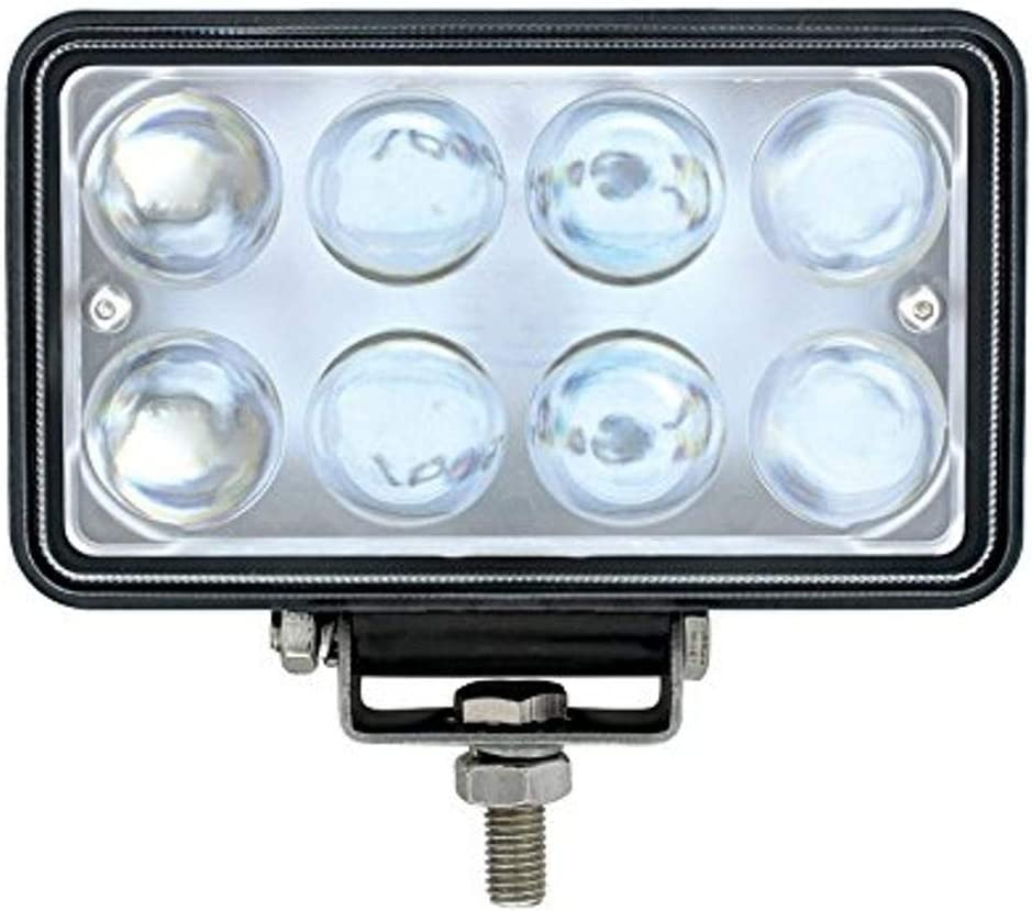 United Pacific Industries 36507 8 High Power Led Rectangular Work Light with Chrome Reflector