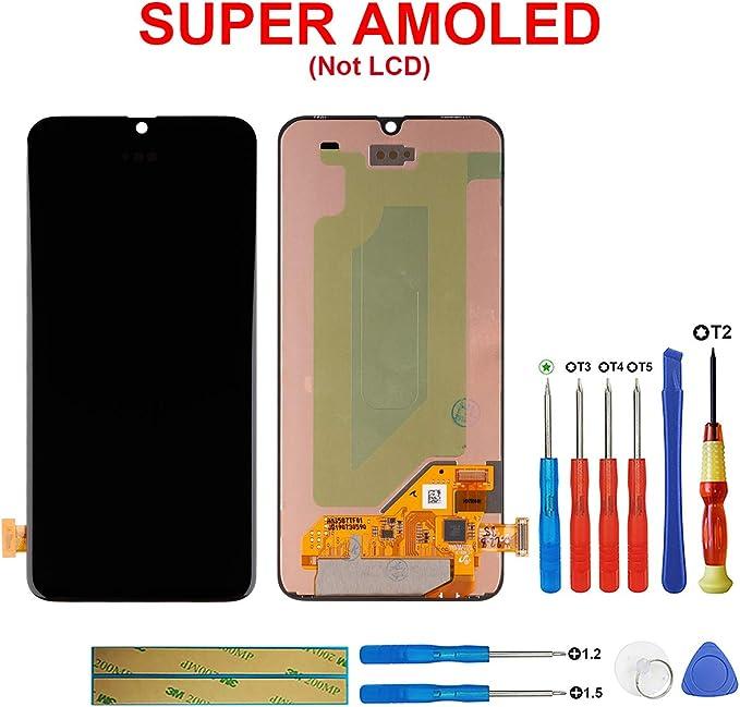 SWARK Super AMOLED - Pantalla táctil Compatible con Samsung Galaxy A40 SM-A405F, SM-A405FN, SM-A405FM (sin Marco), Color Negro: Amazon.es: Electrónica