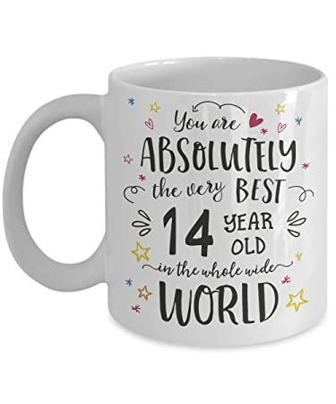 Image Unavailable Not Available For Color 14th Birthday Gift Mug