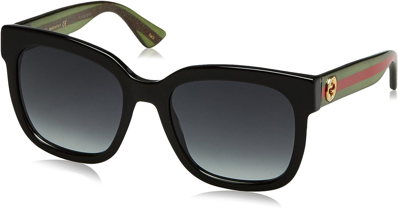 Gucci Sonnenbrille GG0034S-002-54 gafas de sol, Negro (Schwarz), 54.0 para Mujer