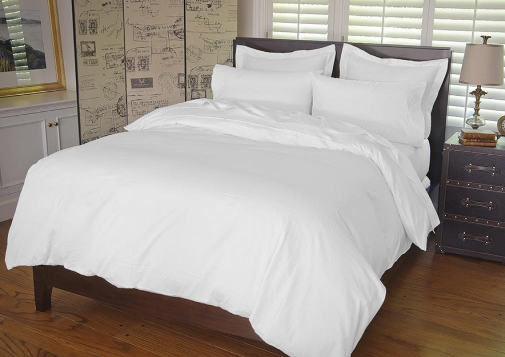 Warm Things Home 300 Thread Count Cotton Sateen Duvet Cover White/Oversized King
