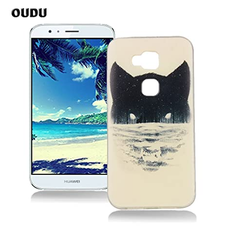 OuDu Funda para Huawei G8 Carcasa Protectora Caso Silicona TPU Funda Suave Soft Silicone Case Cover Bumper Funda Ultra Delgado Carcasa Flexible Ligero ...