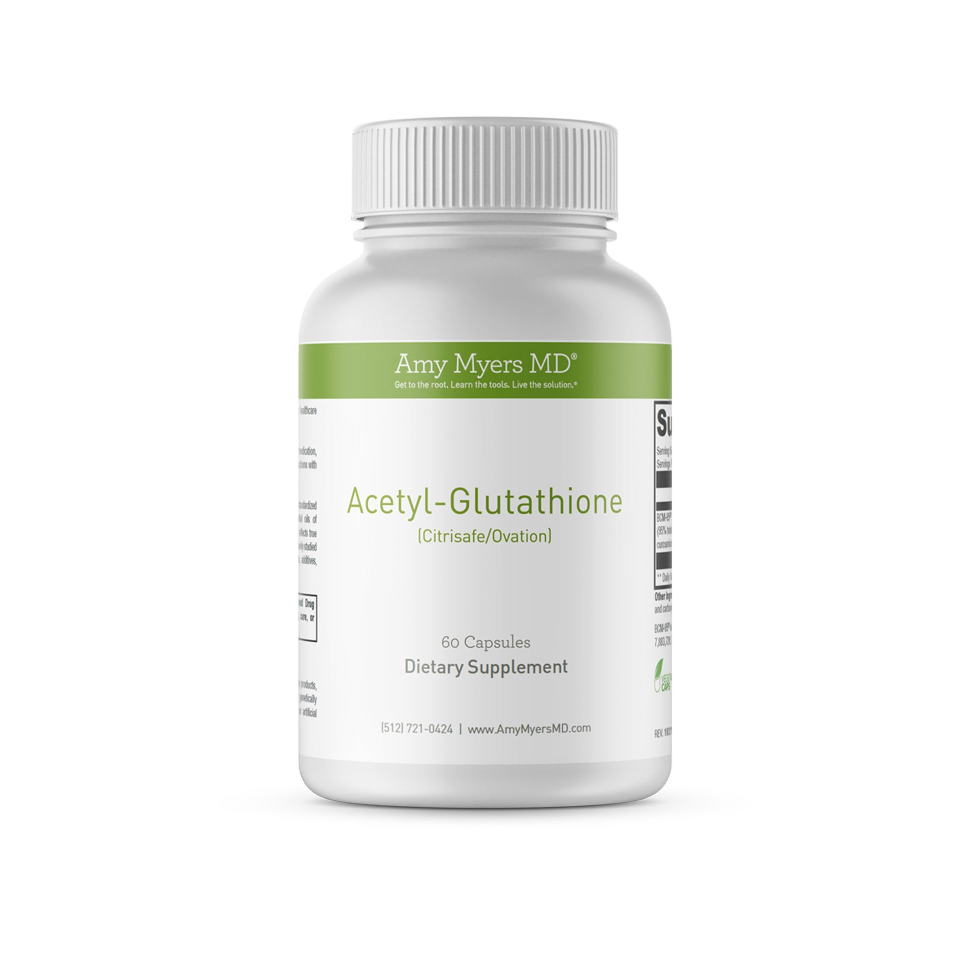 Dr. Amy Myers Acetyl Glutathione 300 mg – Absolute Best Highly Potent Antioxidant Detox Supplement – Immune System and Inflammation Support – Effective Anti-Aging Vitamin – 120 Capsules per Bottle