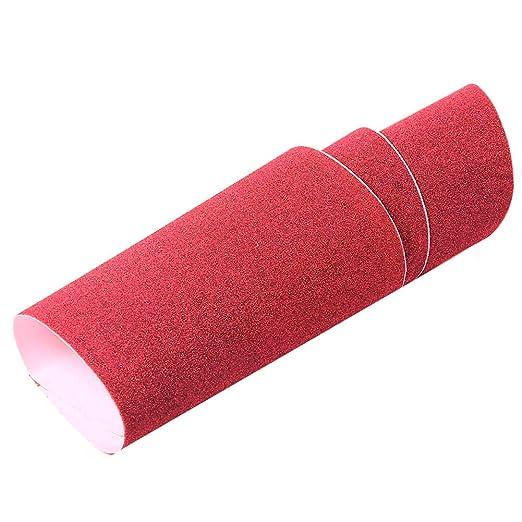 Grip Tape Sand - Adhesivo para patinete de skate y patinete, rojo