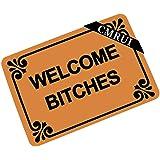 CMRUI Welcome Bitches - Funny Doormat Entrance Mat Floor Mat Rug Indoor/Outdoor/Front Door/Bathroom Mats Rubber Non Slip (23.