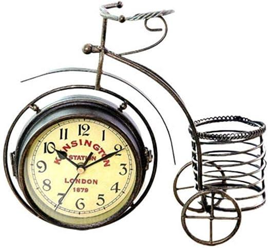 Yangyme Reloj Decorativo Reloj Despertador De Hierro con ...