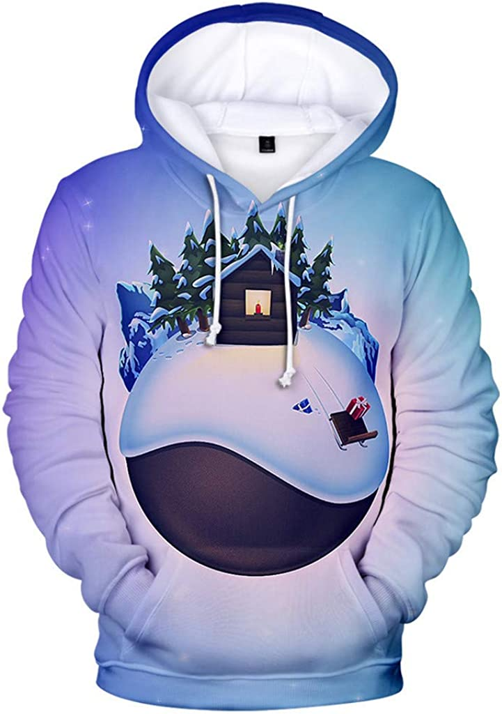 Christmas Jacket for Men Kstare Mens Winter Fashion Print Long Sleeve Casual Sweater Costumes Xmas Coat