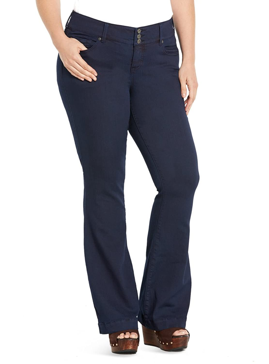 ee7cf742791db Torrid Three-Button Flared Jeans - Navy Wash durable service ...