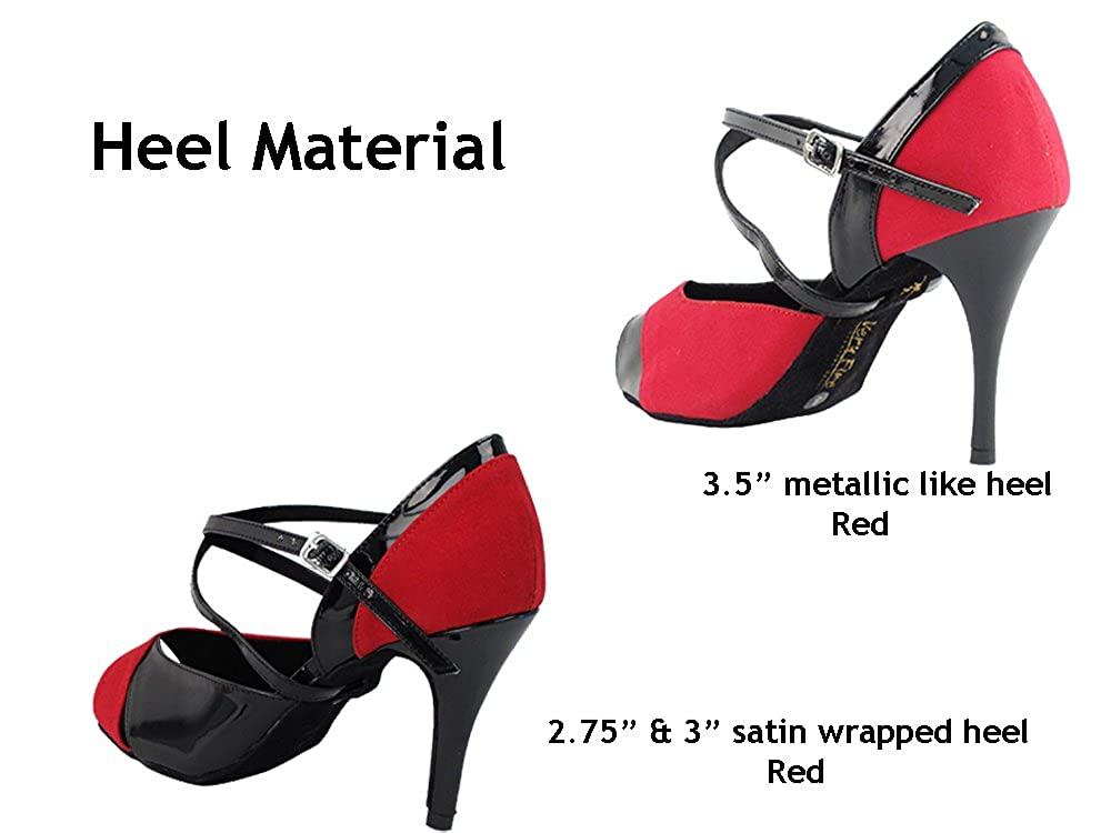 Very Fine 3.5 Heel 7 M US Womens Ballroom Dance Shoes Tango Wedding Party Latin Salsa Dance Shoes Red Velvet /& Black Patent 2828LEDSSEB Comfortable