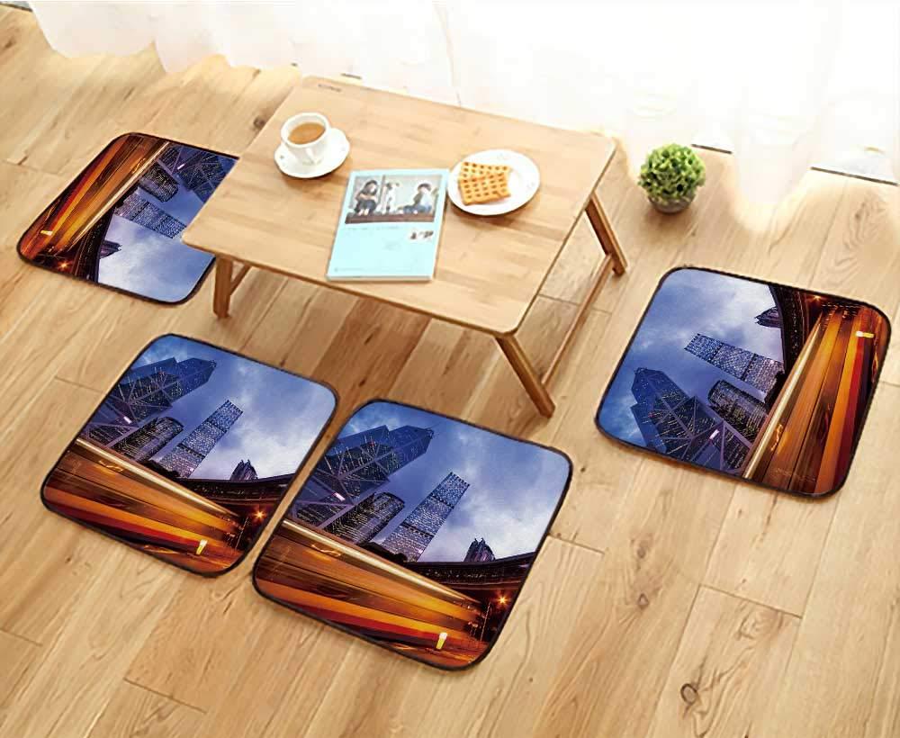 Jiahonghome フィレットチェアクッション ヴィンテージ レトロ効果 フィルター付き ヒップスタースタイル インドのイメージ 椅子用 幅13.5 x 長さ13.5/4点セット W13.5