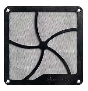 Silverstone FF122 - Filtro para caja de ordenador, negro