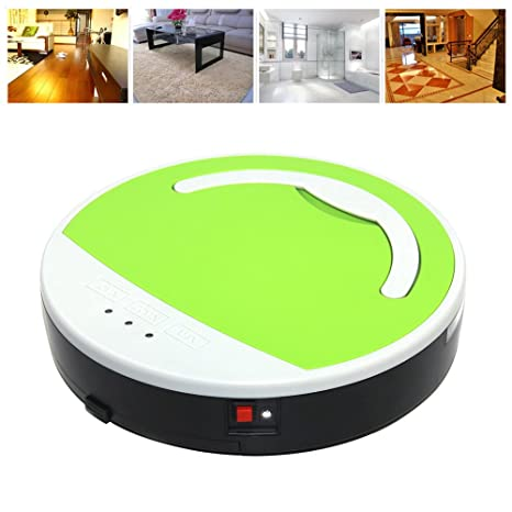 vinteky® Robot aspirador, Robot – Limpiador para suelos inteligente automático rojo Neuf verde