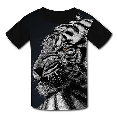 e14fbad8da07 Amazon.com: Eye of The Tiger T-Shirt Short Sleeve Kids Tee Shirt ...