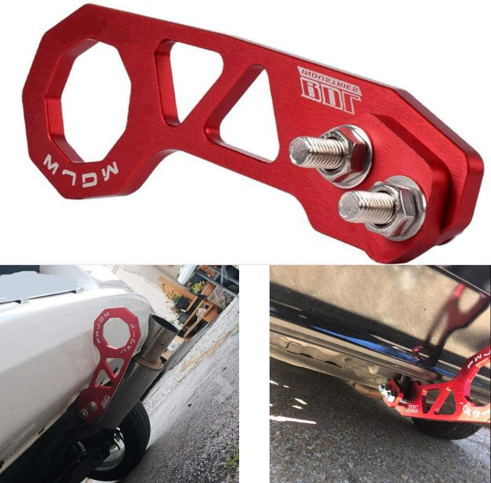 LZKZPY Rear Tow Towing Hook for Universal Car Auto Trailer Ring Aluminum Racing Trailer Hook Red