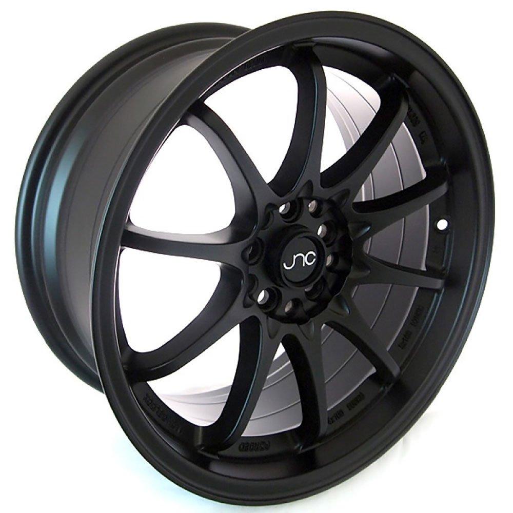 4x100//4x114.3-17x9 inch JNC Wheels 17 JNC006 Matte Black Rim