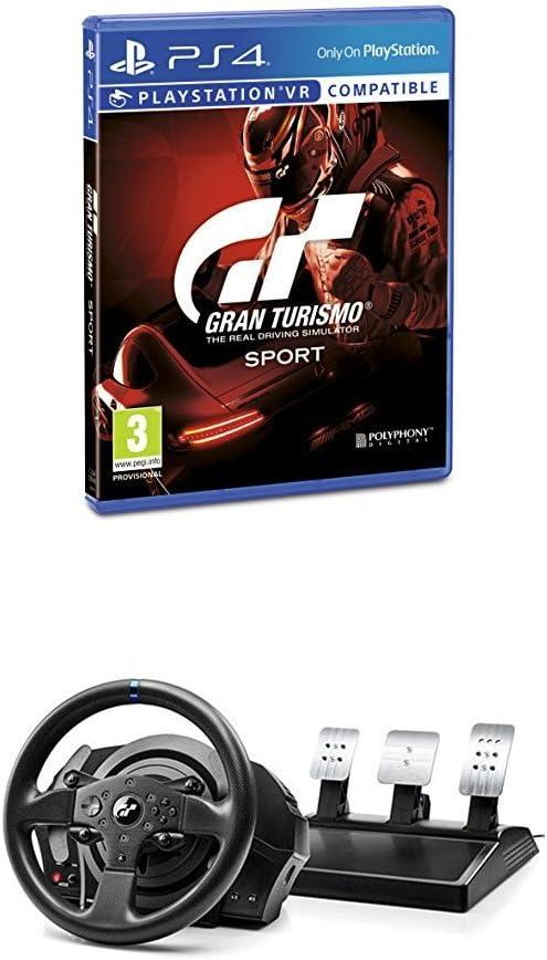 Gran Turismo Sport + Volante Thrustmaster T300RS GT Edition Force Feedback - 3 pedales - Licencia oficial GT Sport: Amazon.es: Videojuegos