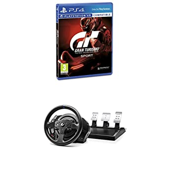 Gran Turismo Sport + Volante Thrustmaster T300RS GT Edition Force Feedback - 3 pedales - Licencia
