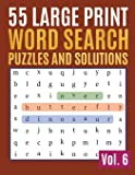 55 Large Print Word Search Puzzles And Solutions: Activity Book for Adults and kids Word Game Easy Quiz Books for Beginners (Find a Word for Adults & Seniors)