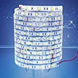 LEDMY 10PCS DC24V Flexible Led Strip Light Adhesive led Tape SMD5050 150leds IP67 Waterproof String Light Used in Commercial, Project, Home and Outdoor (Cool White 6000K) 5M/PCS