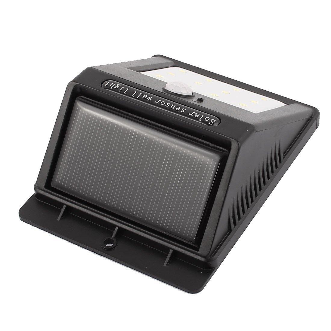 La lámpara PIR del sensor de movimiento CDS eDealMax Solar LED de pared de luz LED de 12 a prueba de agua al aire libre Jardín - - Amazon.com