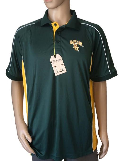 Baylor Bears chiliwear verde amarillo manga corta 3 Botón golf ...