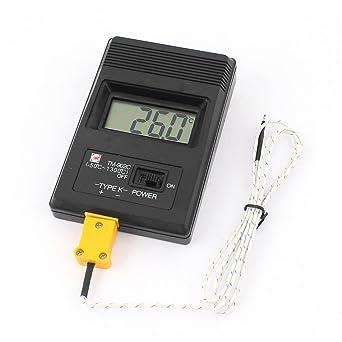 sourcingmap® LCD Termómetro Digital Tipo K PRUEBA TM-902c w Cable termopar