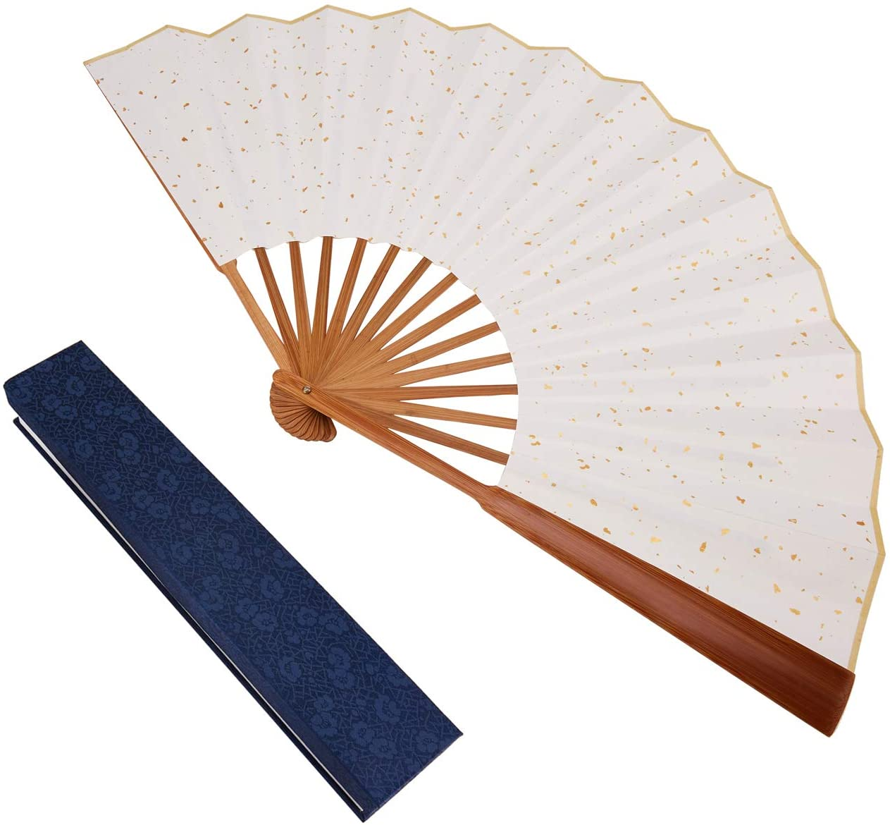 probably made in China Wooden hand fan in cloth case