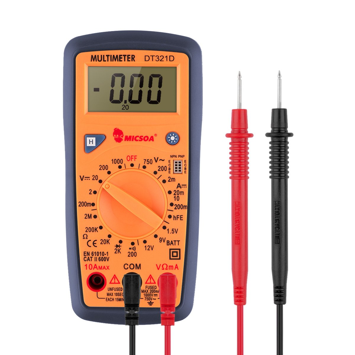 Digital Multimeter Meter Reading : Micsoa handheld digital multimeter backlight ac dc volt