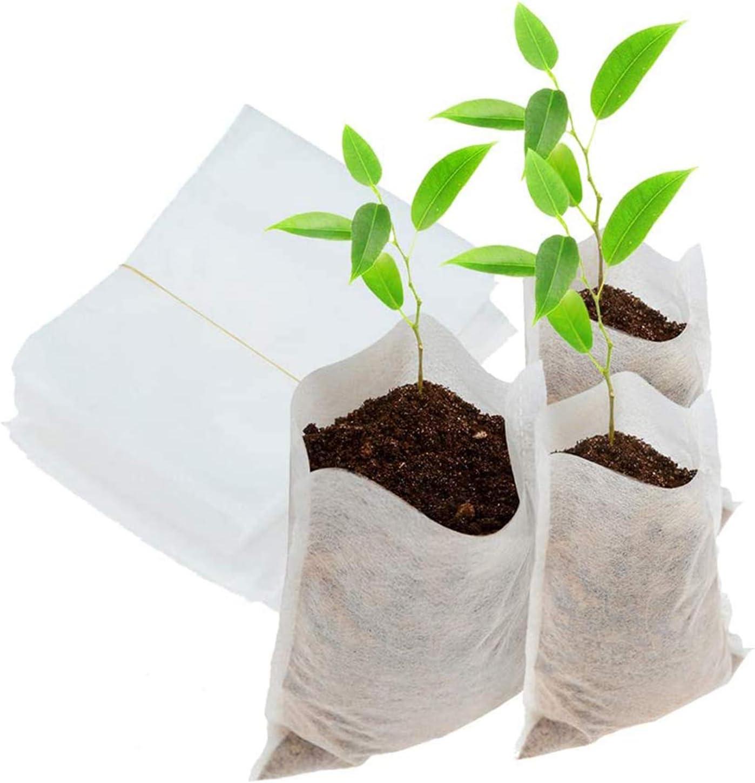 Kalolary 200 Unids Bolsas de Vivero No Tejidas Biodegradables Planta Crecer Bolsas Ambientales Plantas de Plántulas Macetas Plantas Bolsa de Jardín de Origen de la Fuente