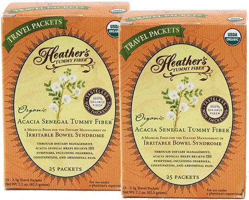 Fork Tamers - Heather's Tummy Fiber Organic Acacia Senegal Travel Packets (2 Boxes)