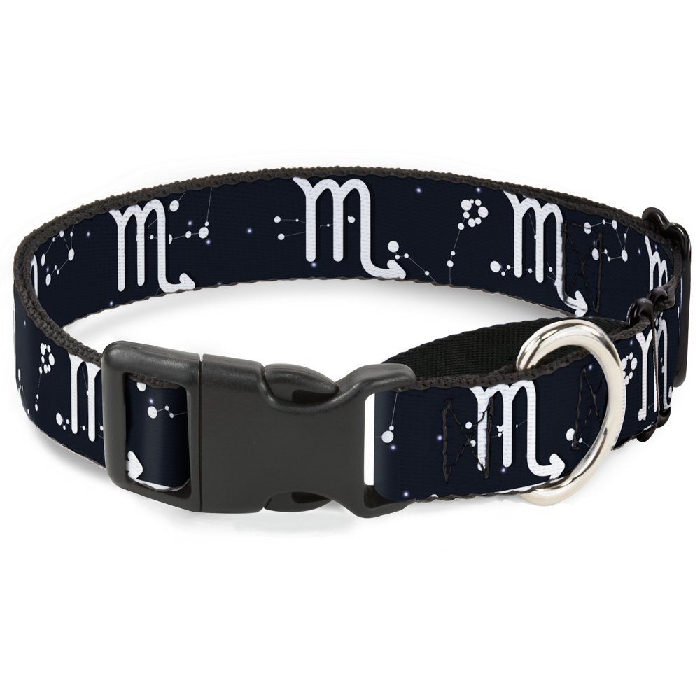 Buckle-Down MGC-W32663-M Zodiac Scorpio Symbol Constellations Black White Martingale Dog Collar, Medium